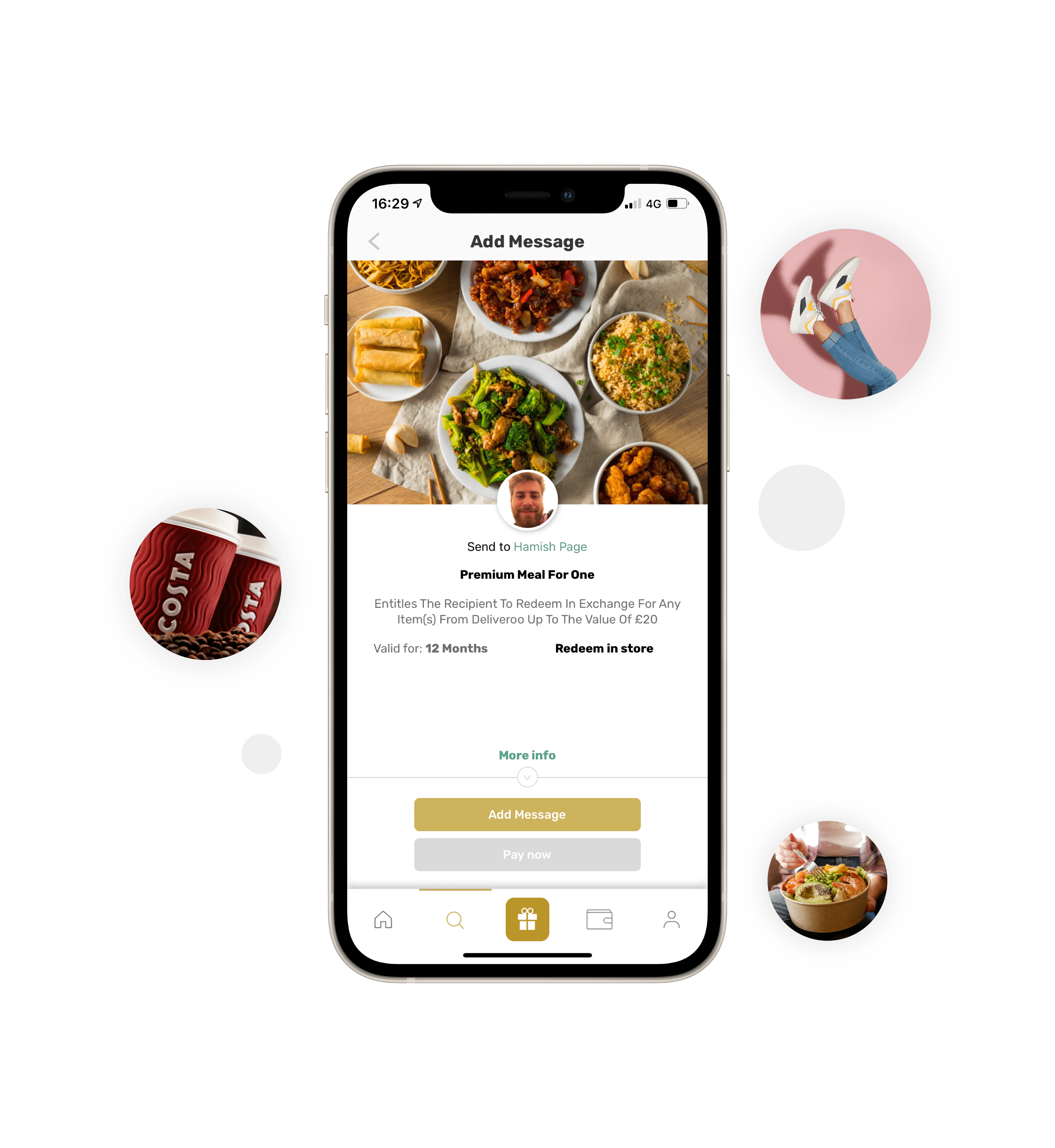 Iphone Prsnt app with brand and product images